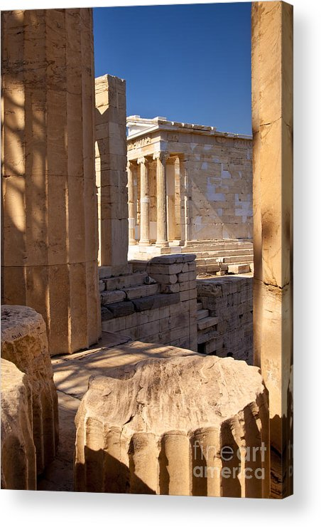 Acropolis Acrylic Print featuring the photograph Acropolis Temple by Brian Jannsen
