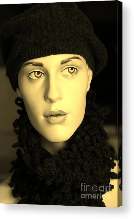 Face Acrylic Print featuring the photograph Adele 3 by Sophie Vigneault