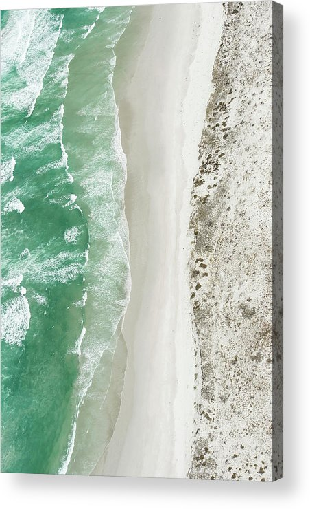Scenics Acrylic Print featuring the photograph Aerial View Of The Sixteen Mile Beach by Peter Chadwick