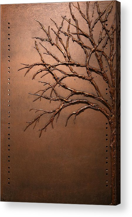 Tree Acrylic Print featuring the painting Alopecia by Mathieu Francoeur