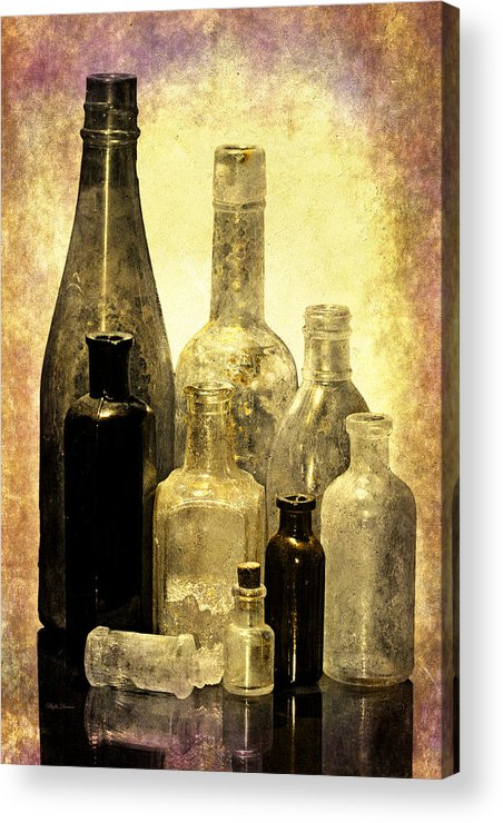 Bottles Acrylic Print featuring the photograph Antique Bottles From The Past by Phyllis Denton