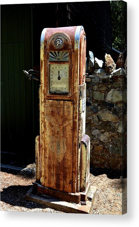 Gas Acrylic Print featuring the photograph Antique Gas Pump by William Hallett
