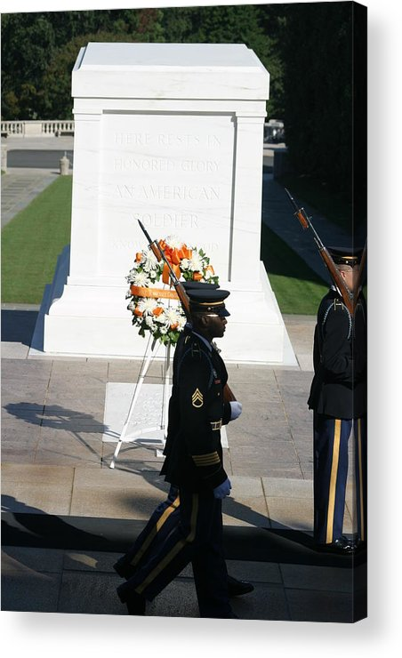 Arlington Acrylic Print featuring the photograph Arlington National Cemetery - Tomb Of The Unknown Soldier - 121213 by DC Photographer