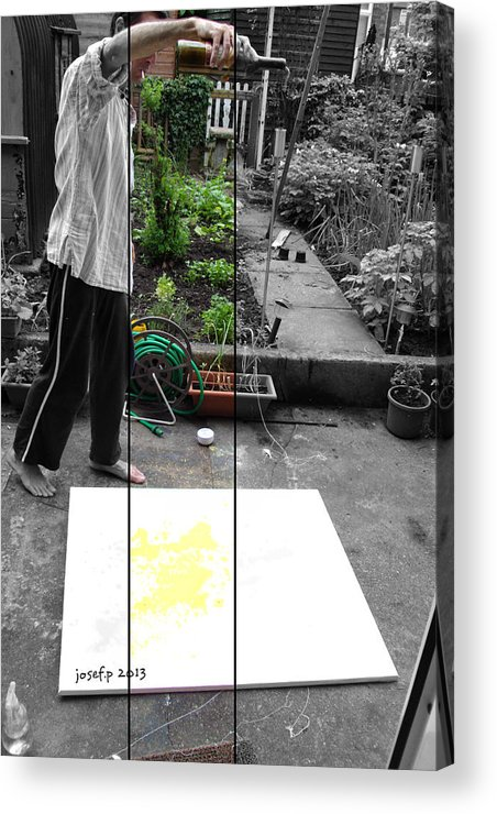 Artist Acrylic Print featuring the photograph Artist At Work Three by Sir Josef - Social Critic - ART