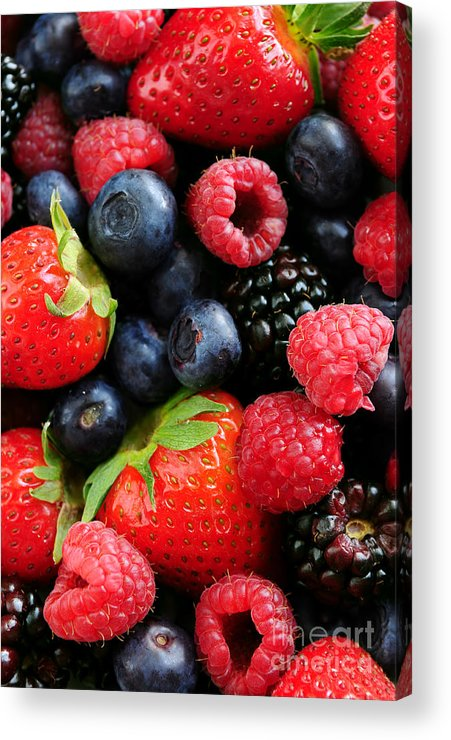 Berry Acrylic Print featuring the photograph Assorted Fresh Berries by Elena Elisseeva