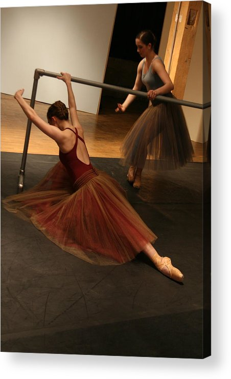 Ballet Acrylic Print featuring the photograph At The Barre by Kate Purdy