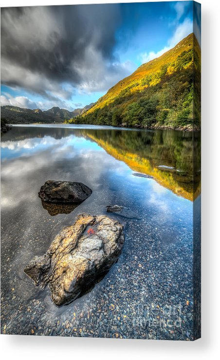 Betws Y Coed Acrylic Print featuring the photograph Autumn At Crafnant by Adrian Evans