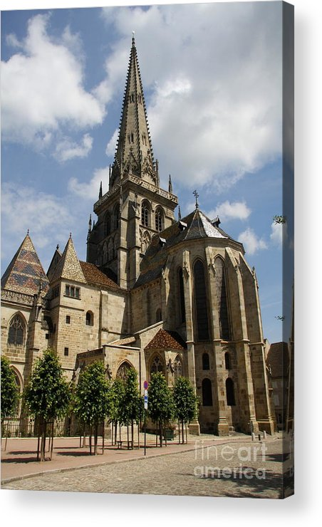 Cathedral Acrylic Print featuring the photograph Autun Cathedral View Burgundy by Christiane Schulze Art And Photography