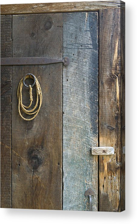 Wood Acrylic Print featuring the photograph Barn Door by Peter J Sucy