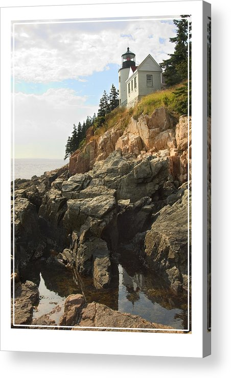 Bass Harbor Acrylic Print featuring the photograph Bass Harbor Head Lighthouse by Mike McGlothlen