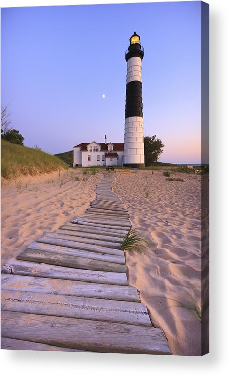 3scape Photos Acrylic Print featuring the photograph Big Sable Point Lighthouse by Adam Romanowicz