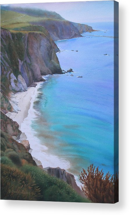 Watercolor Acrylic Print featuring the painting Big Sur Coast by Daniel Dayley