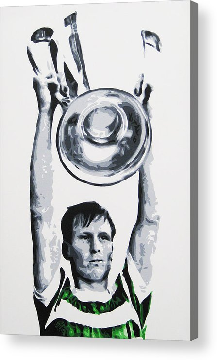 Billy Mcneill Acrylic Print featuring the painting Billy Mcneill - Glasgow Celtic Fc by Geo Thomson