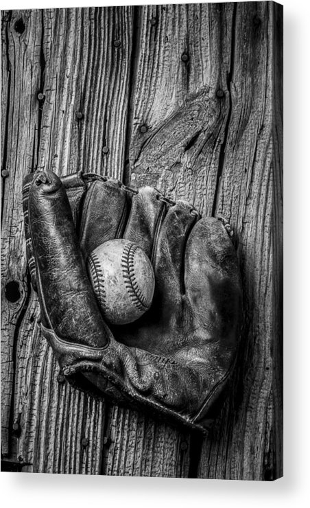 Black Acrylic Print featuring the photograph Black And White Mitt by Garry Gay