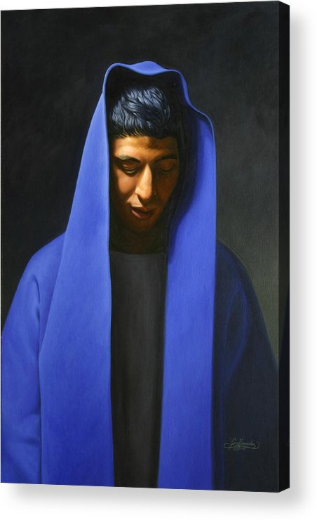 Blue Acrylic Print featuring the painting Blue by Gary Hernandez