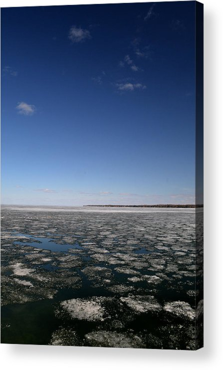 Blue Acrylic Print featuring the photograph Blue Sky Above The Ice 2 by Lyle Crump