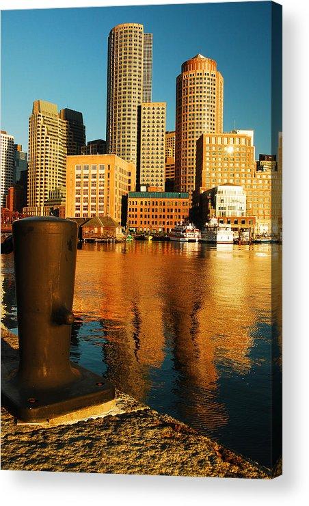 Boston Acrylic Print featuring the photograph Boston Harbor by James Kirkikis