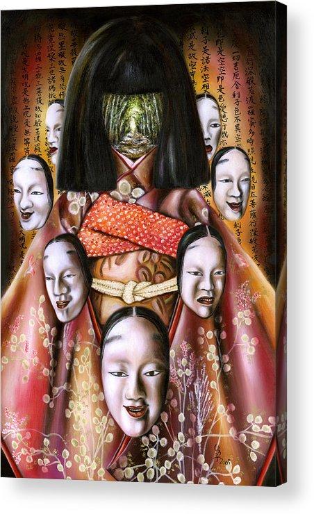 Japanese Acrylic Print featuring the painting Boukyo Nostalgisa by Hiroko Sakai