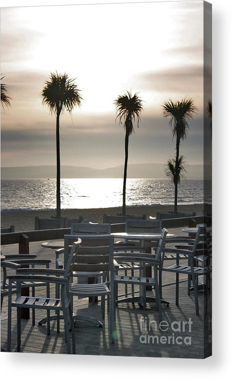 Bournemouth Beach Acrylic Print featuring the photograph Bournemouth Beach In December by Terri Waters