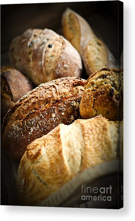 Bread Acrylic Print featuring the photograph Bread Loaves by Elena Elisseeva