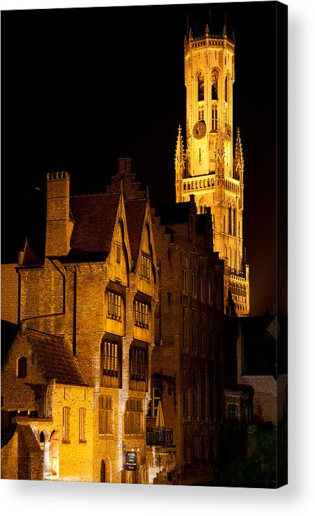 Belgium Acrylic Print featuring the photograph Brugge Architecture by CJ Middendorf
