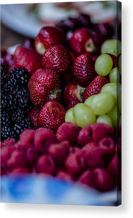 Strawberries Acrylic Print featuring the photograph Bundle Ole Fruit by Stephen Brown