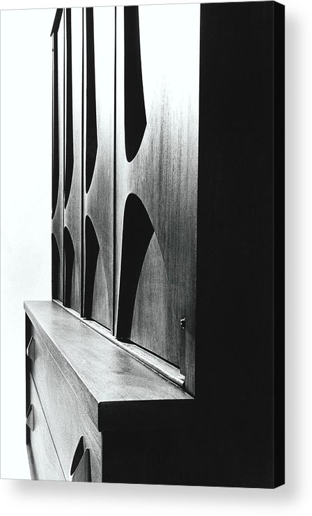 Oscar Niemeyer Acrylic Print featuring the photograph Cabinet Designed By M F Smith For Broyhill by William Grigsby