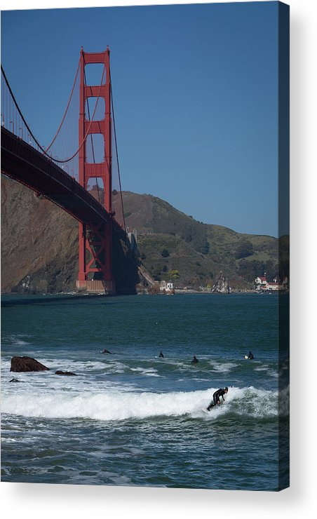 Surfer Acrylic Print featuring the photograph California by Larry Fry