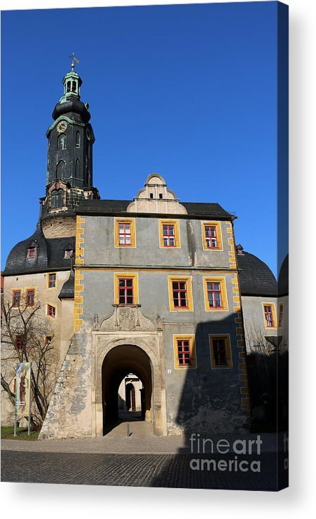 Castle Acrylic Print featuring the photograph Castle Church Weimar by Christiane Schulze Art And Photography