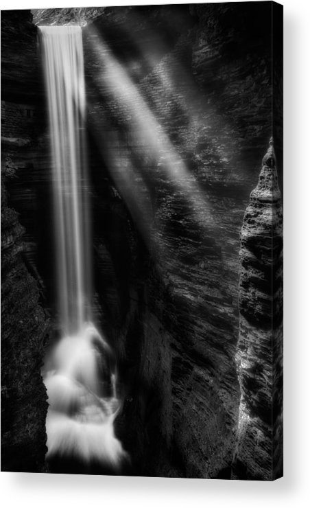 Watkins Glen Acrylic Print featuring the photograph Cavern Cascade by Bill Wakeley