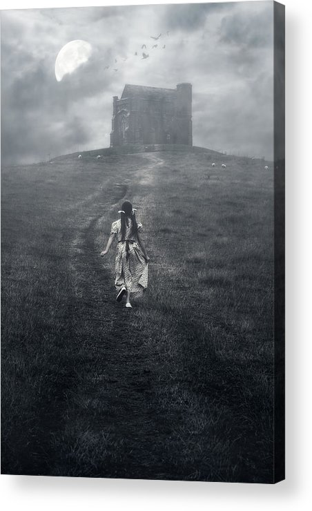 Girl Acrylic Print featuring the photograph Chapel In Mist by Joana Kruse