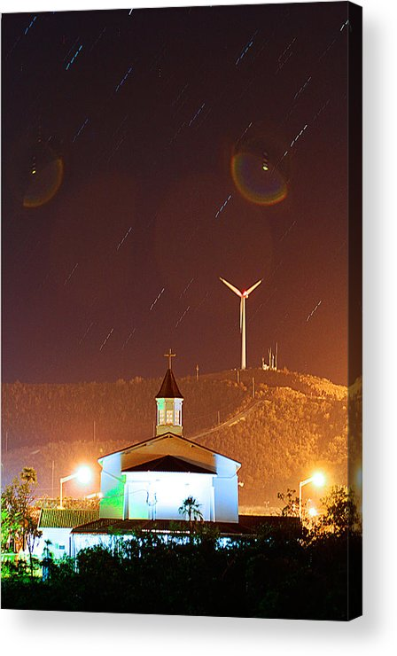 Chapel Acrylic Print featuring the photograph Chapel Night by Christian Schroeder