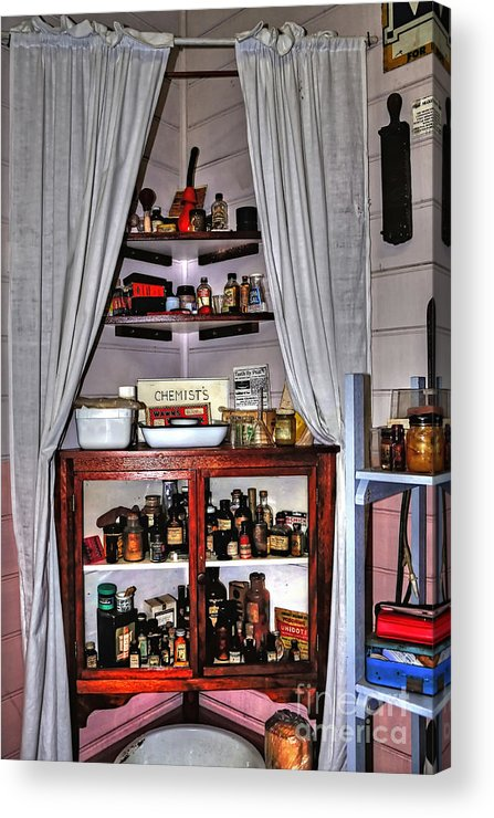 Photography Acrylic Print featuring the photograph Chemist's Corner - Remedies And Potions by Kaye Menner