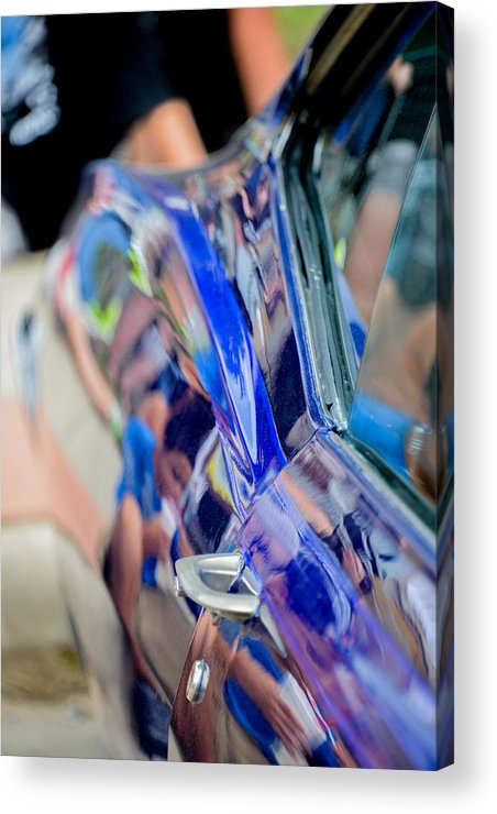 Blue Acrylic Print featuring the photograph Chevy In Blue by David Jeffries
