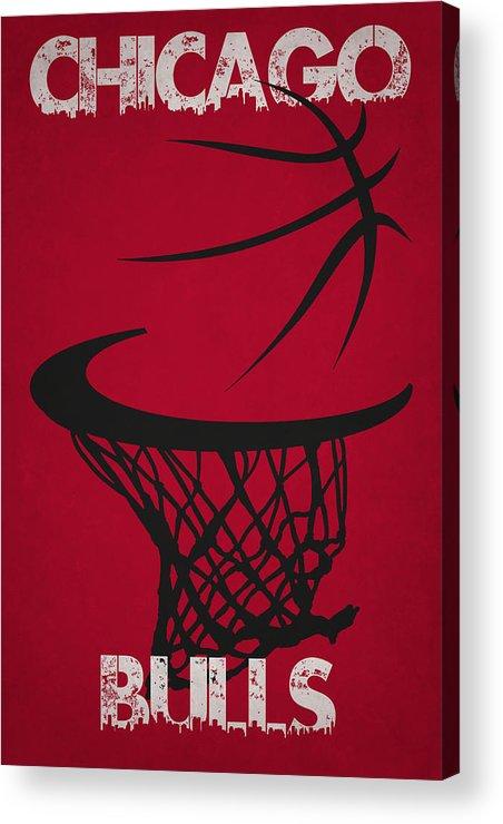 Bulls Acrylic Print featuring the photograph Chicago Bulls Hoop by Joe Hamilton