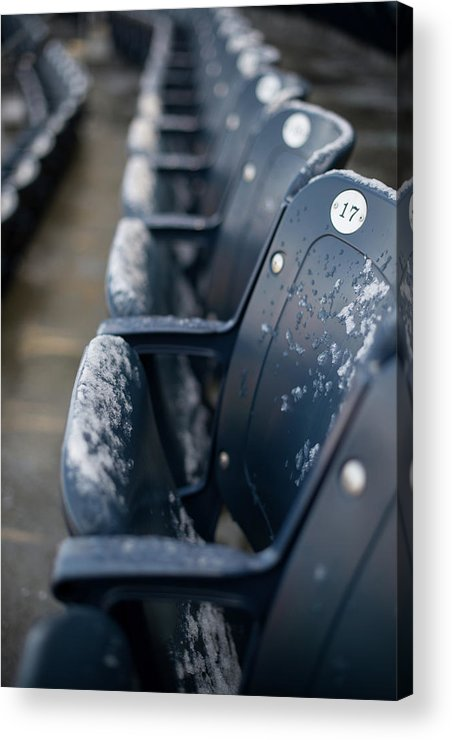 American League Baseball Acrylic Print featuring the photograph Chicago Cubs V. New York Yankees by Rob Tringali