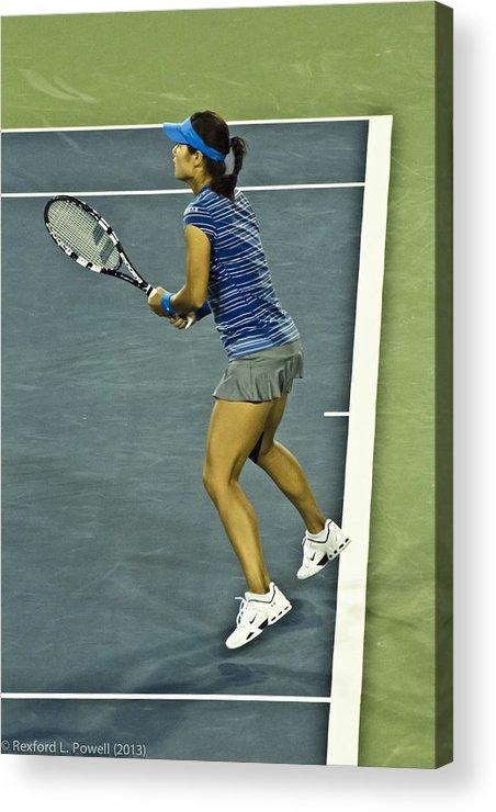 Li Na Acrylic Print featuring the photograph China Tennis Star Li Na by Rexford L Powell