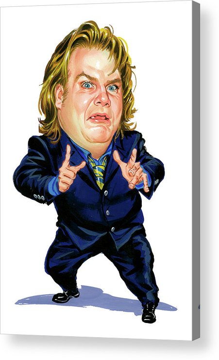 Chris Farley Acrylic Print featuring the painting Chris Farley by Art
