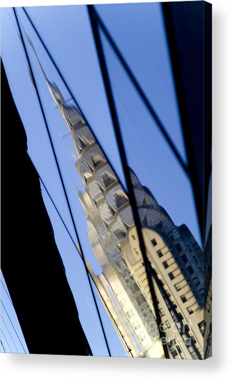 Chrysler Acrylic Print featuring the photograph Chrysler Building by Tony Cordoza