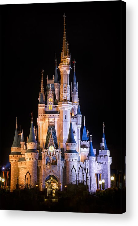 3scape Acrylic Print featuring the photograph Cinderella's Castle In Magic Kingdom by Adam Romanowicz