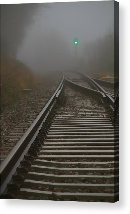 Tracks Acrylic Print featuring the photograph Clear Track by Odd Jeppesen