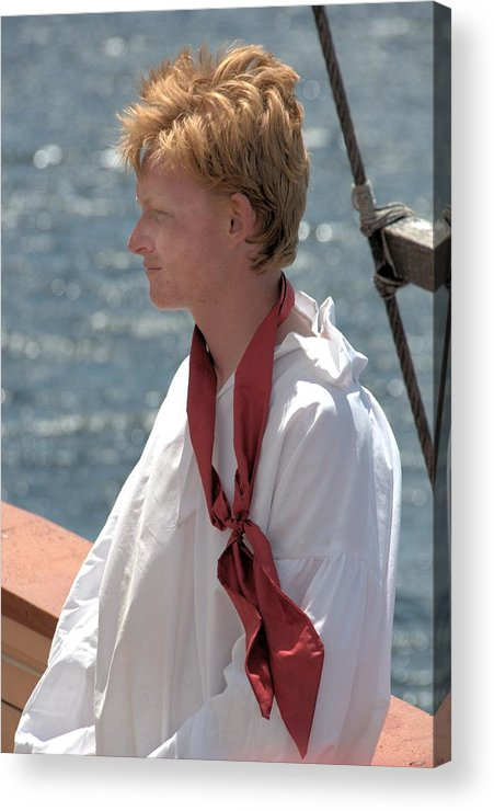 Tall Ship Acrylic Print featuring the photograph Crewman by Valerie Kirkwood