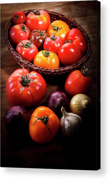 Yield Sign Acrylic Print featuring the photograph Crop Tomatoes by Letty17