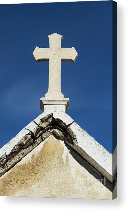Cemetery Acrylic Print featuring the photograph Cross by John Greim