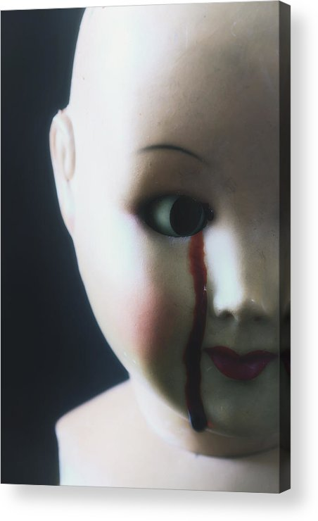 Doll Acrylic Print featuring the photograph Crying Blood by Joana Kruse