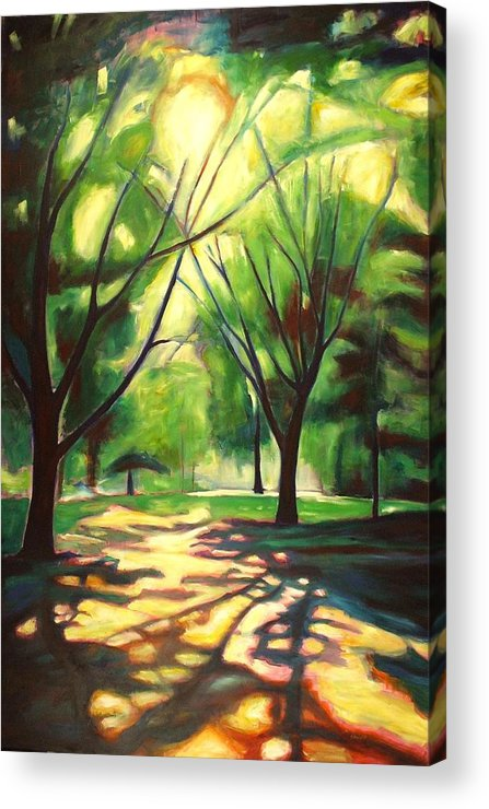 Tree Acrylic Print featuring the painting Dancing Shadows by Sheila Diemert