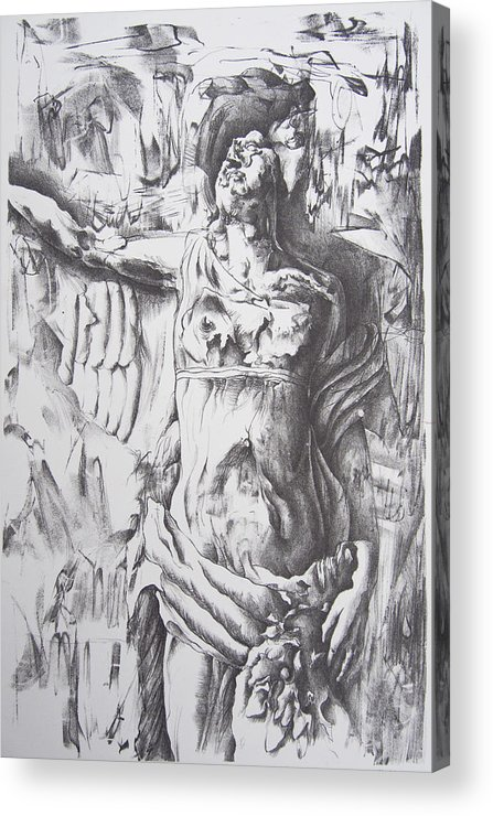 Lithography Acrylic Print featuring the drawing Decomposition by Nick Helton