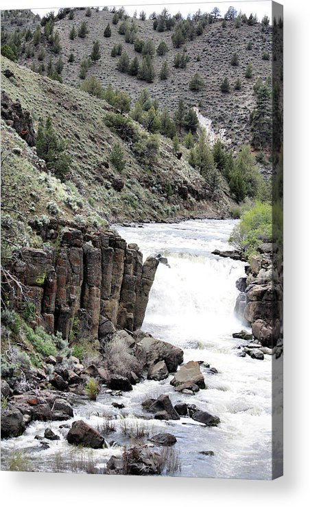 Water Falls Acrylic Print featuring the photograph Deep Creek Falls by Ray Finch