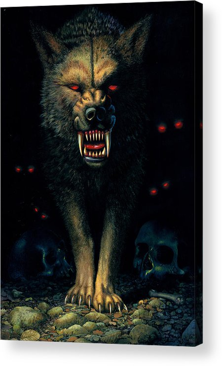 Demon Wolf Acrylic Print By Mgl Meiklejohn Graphics Licensing
