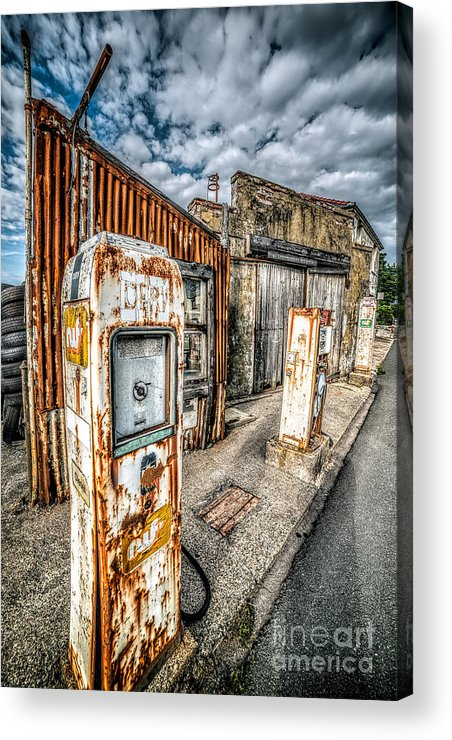 Derelict Acrylic Print featuring the photograph Derelict Gas Station by Adrian Evans
